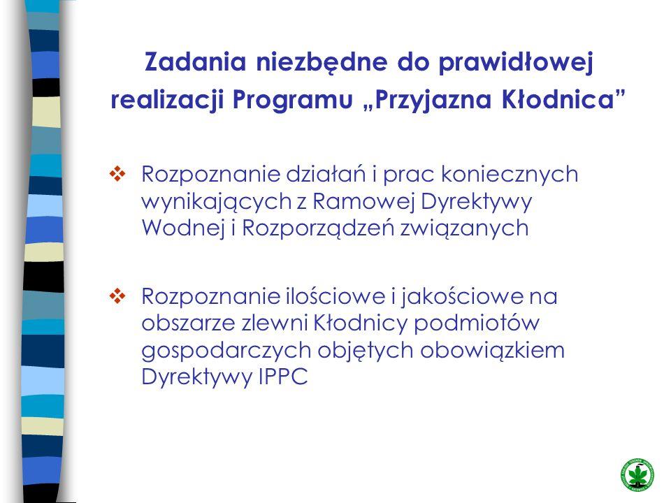 """Zadania niezbędne do prawidłowej realizacji Programu """"Przyjazna Kłodnica"""