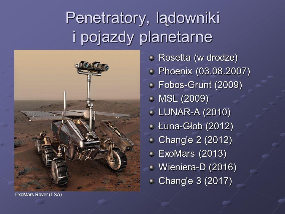 Penetratory, lądowniki i pojazdy planetarne