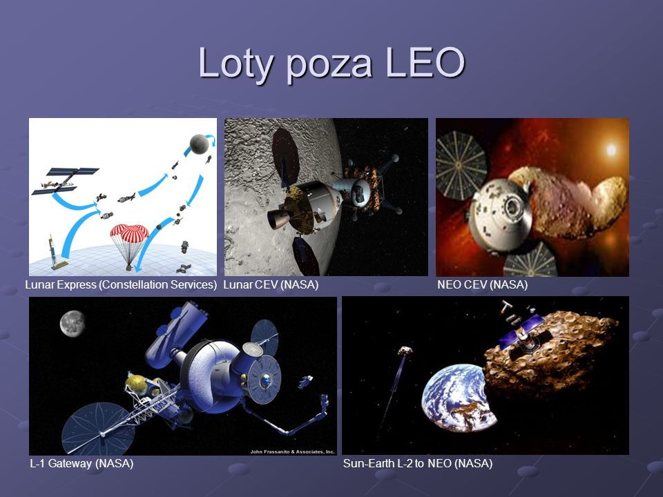 Loty poza LEO Lunar Express (Constellation Services) Lunar CEV (NASA)