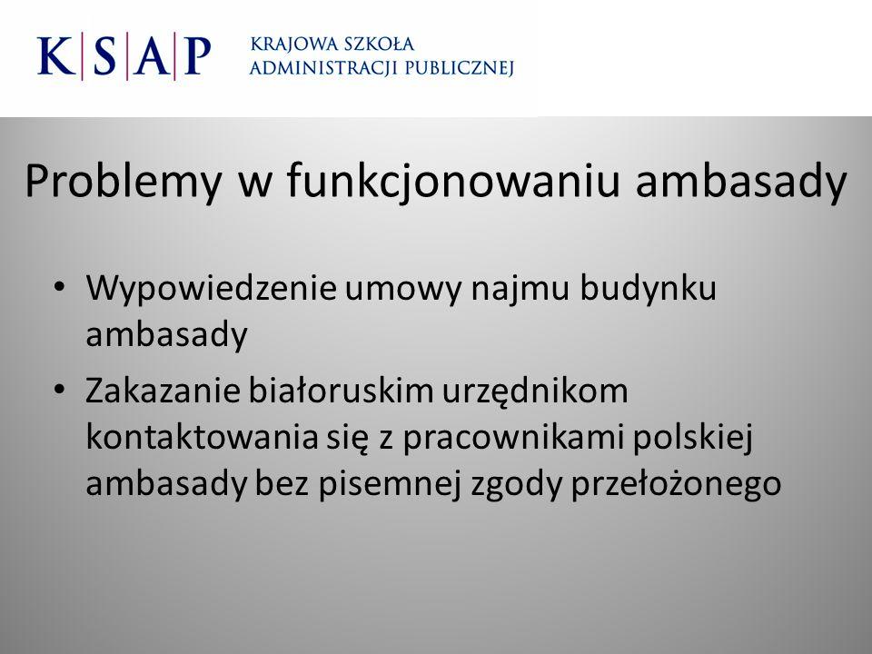Problemy w funkcjonowaniu ambasady