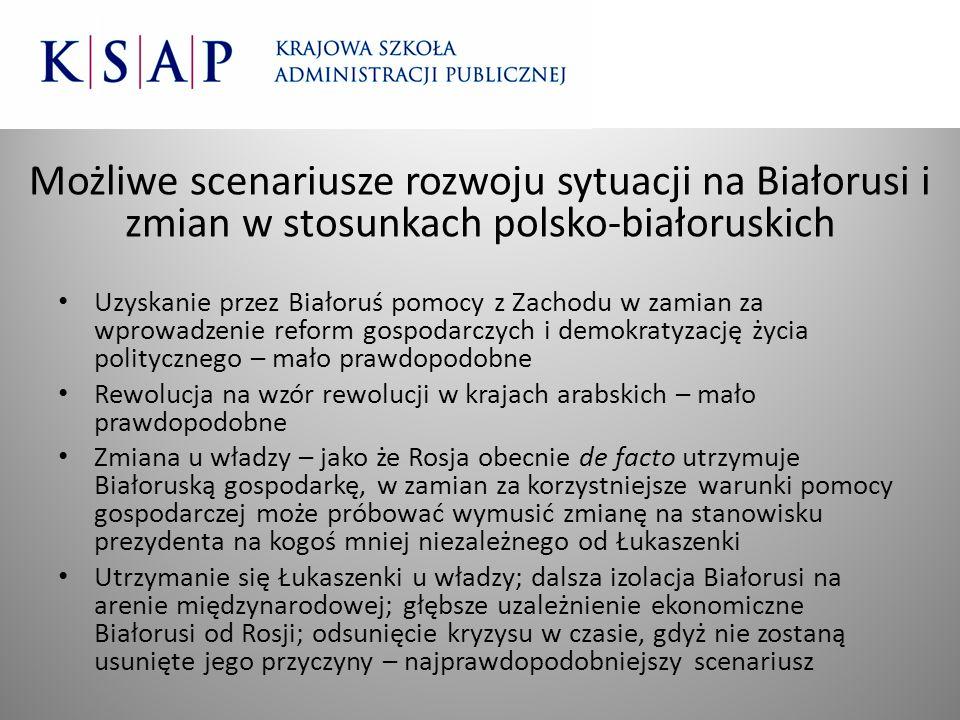 Możliwe scenariusze rozwoju sytuacji na Białorusi i zmian w stosunkach polsko-białoruskich
