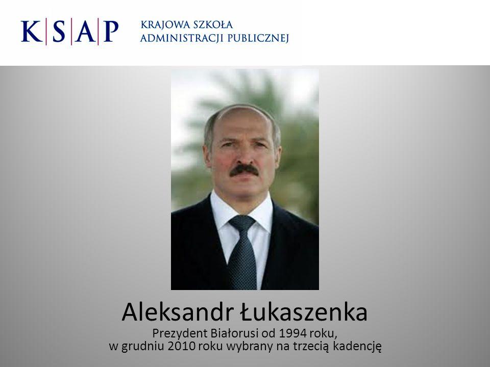 Aleksandr Łukaszenka Prezydent Białorusi od 1994 roku,