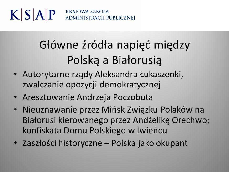 Główne źródła napięć między Polską a Białorusią