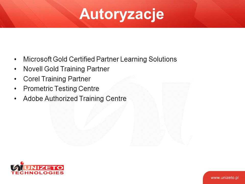 Autoryzacje Microsoft Gold Certified Partner Learning Solutions