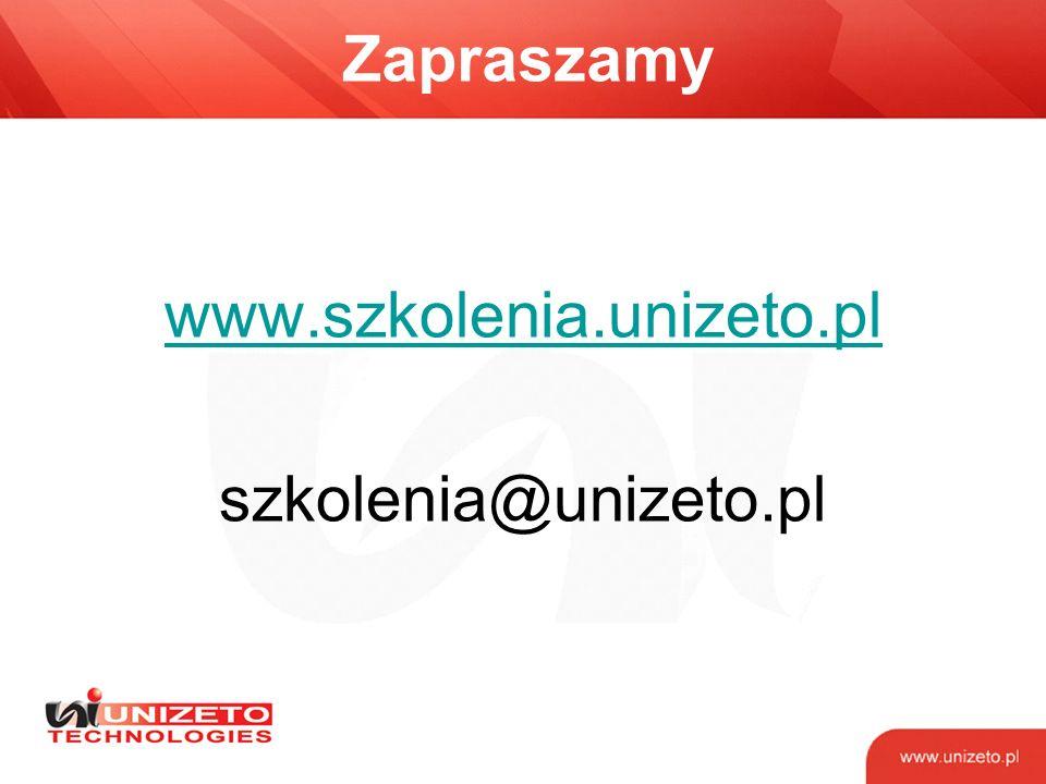 www.szkolenia.unizeto.pl szkolenia@unizeto.pl