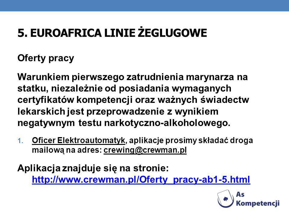 5. EUROAFRICA LINIE ŻEGLUGOWE