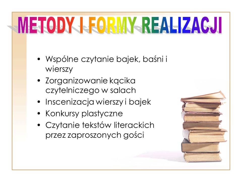 METODY I FORMY REALIZACJI