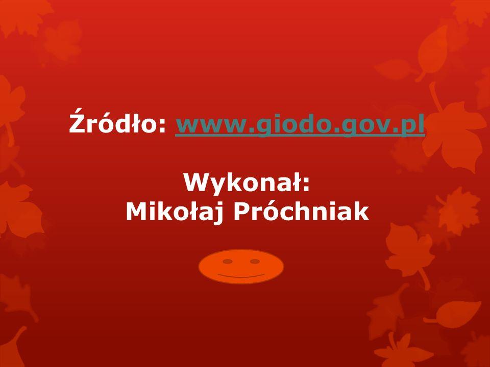 Źródło: www.giodo.gov.pl Wykonał: Mikołaj Próchniak