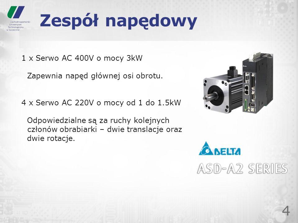 Zespół napędowy 1 x Serwo AC 400V o mocy 3kW