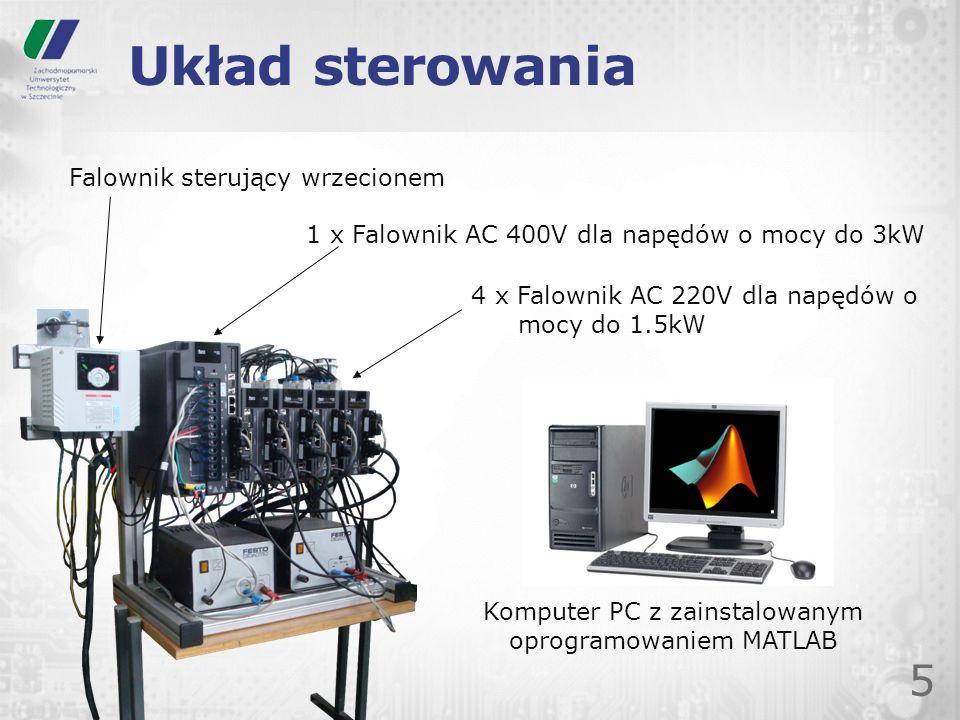 Komputer PC z zainstalowanym oprogramowaniem MATLAB