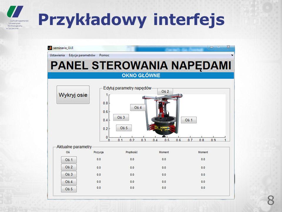 Przykładowy interfejs