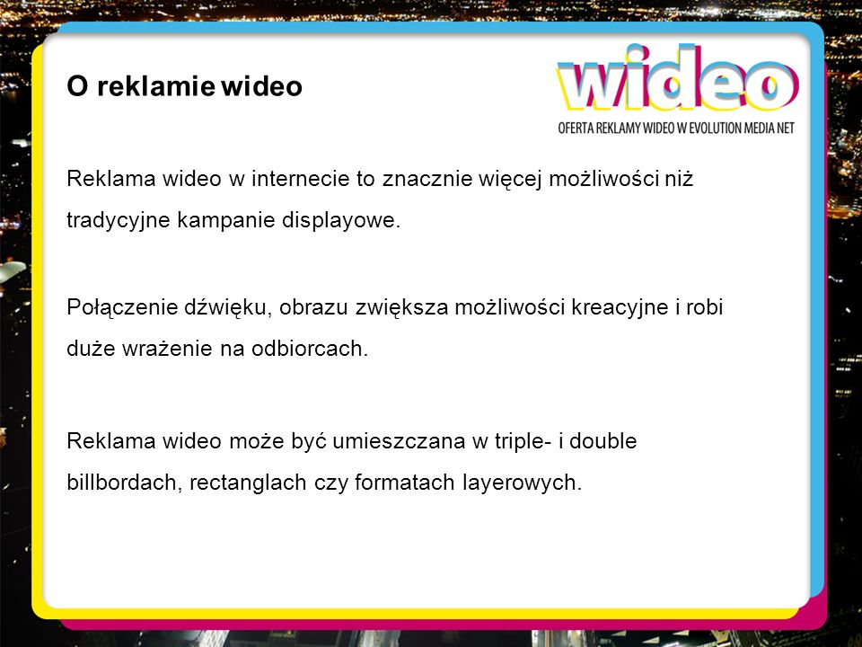O reklamie wideo