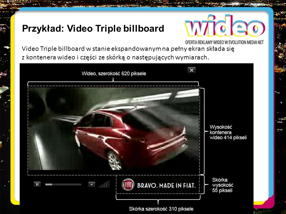 Przykład: Video Triple billboard