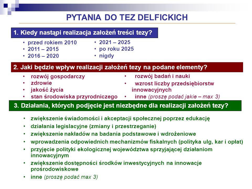 PYTANIA DO TEZ DELFICKICH