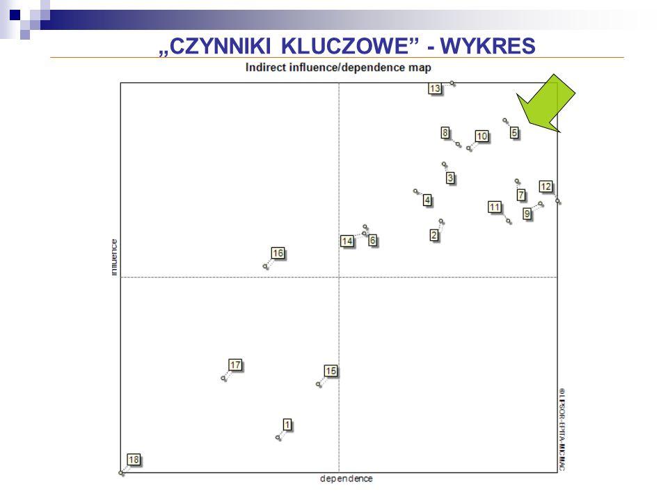 """""""CZYNNIKI KLUCZOWE - WYKRES"""