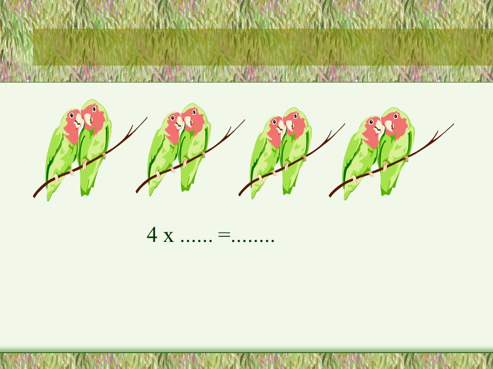 4 x ...... =........
