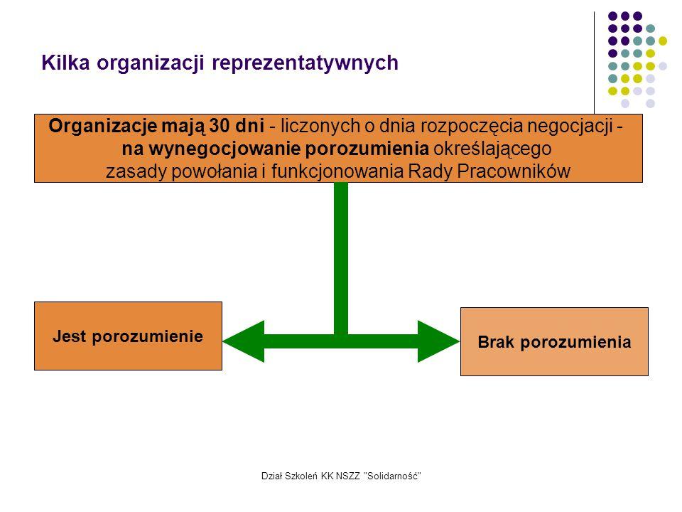 Kilka organizacji reprezentatywnych