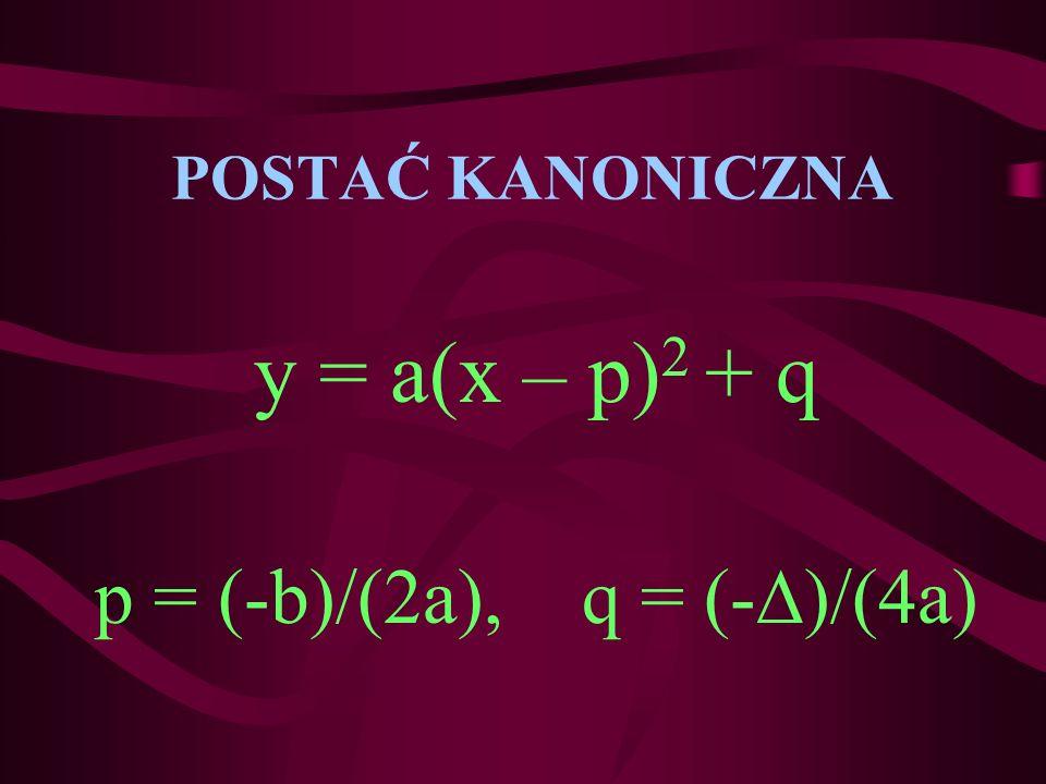 p = (-b)/(2a), q = (-)/(4a)