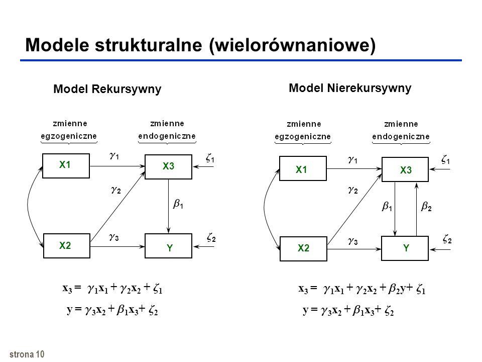 Modele strukturalne (wielorównaniowe)
