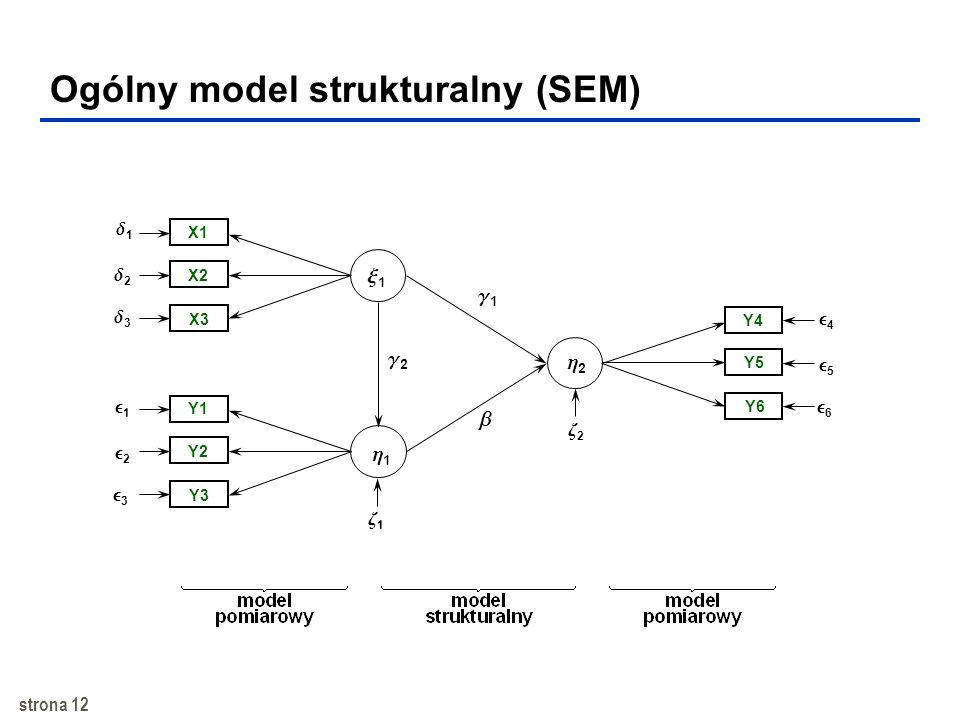 Ogólny model strukturalny (SEM)
