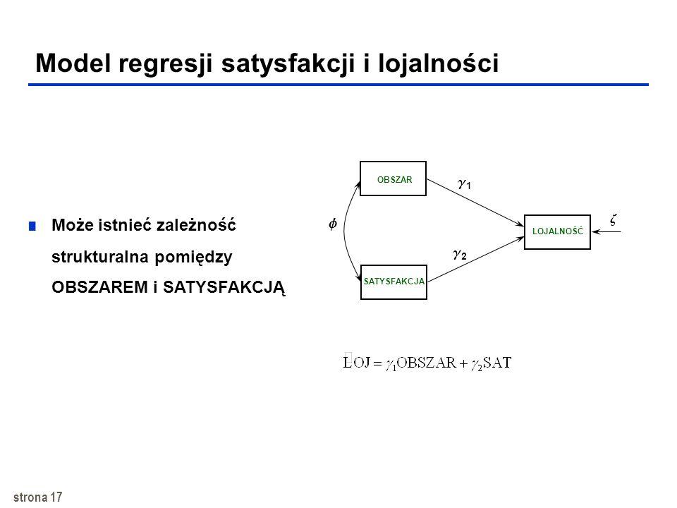 Model regresji satysfakcji i lojalności