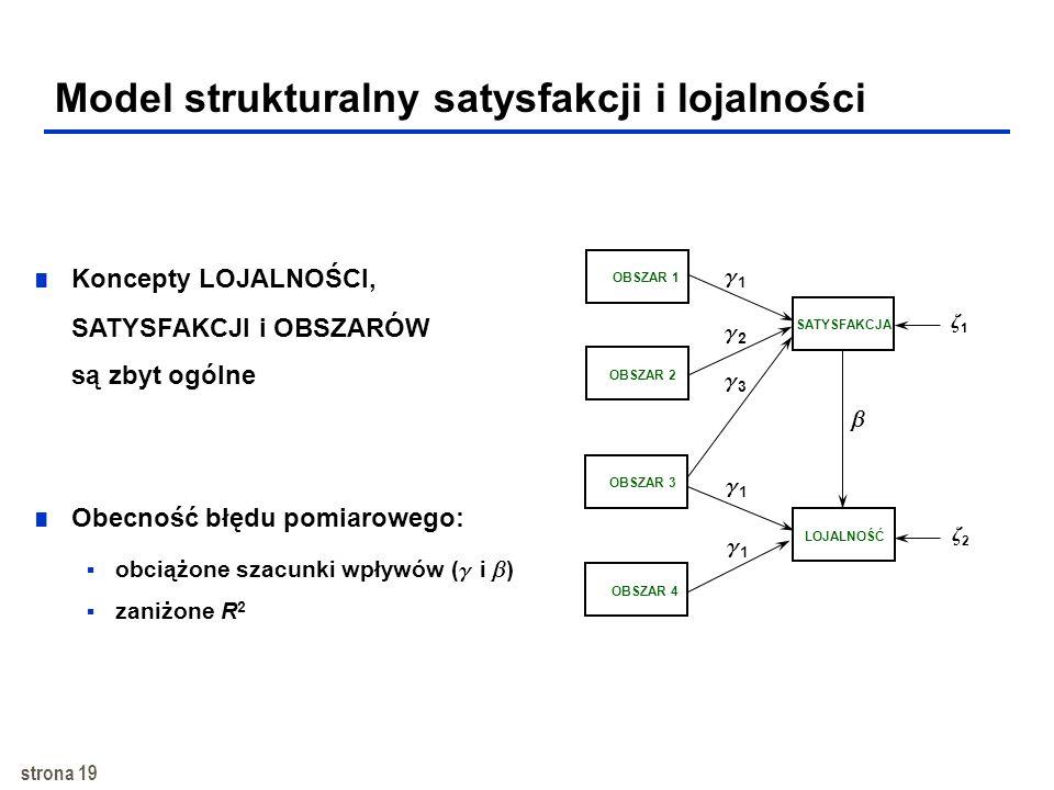Model strukturalny satysfakcji i lojalności