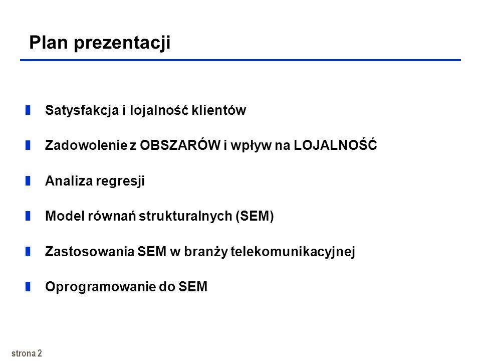 Plan prezentacji Satysfakcja i lojalność klientów