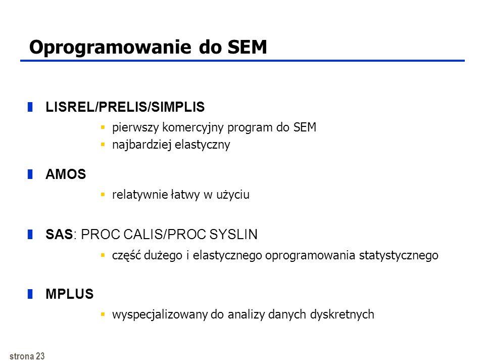 Oprogramowanie do SEM LISREL/PRELIS/SIMPLIS AMOS