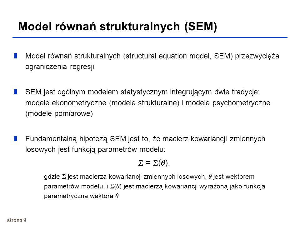 Model równań strukturalnych (SEM)