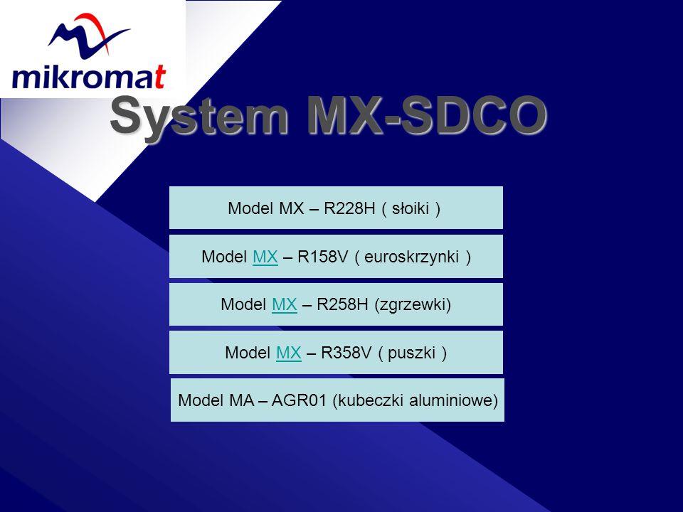 System MX-SDCO Model MX – R228H ( słoiki )