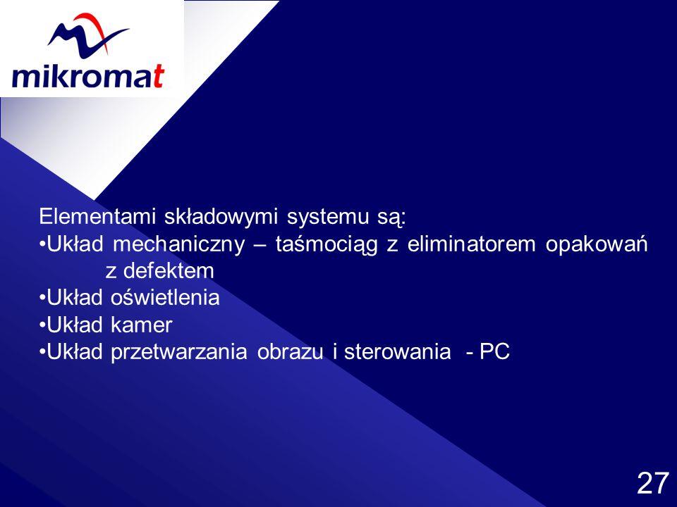 Elementami składowymi systemu są: