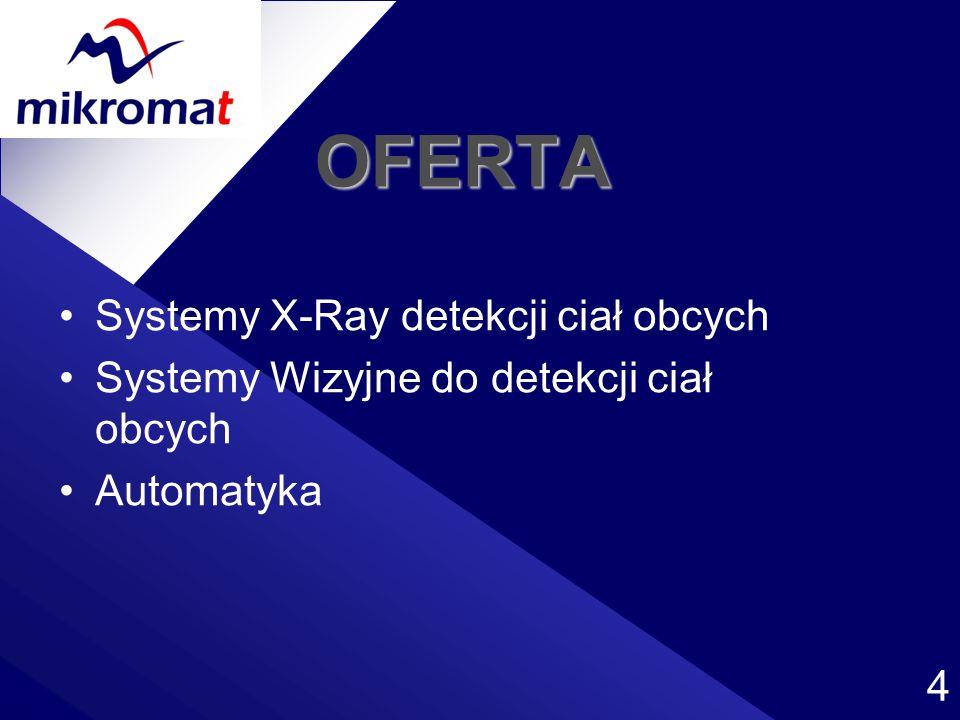 OFERTA Systemy X-Ray detekcji ciał obcych