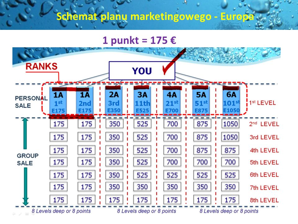 Schemat planu marketingowego - Europa