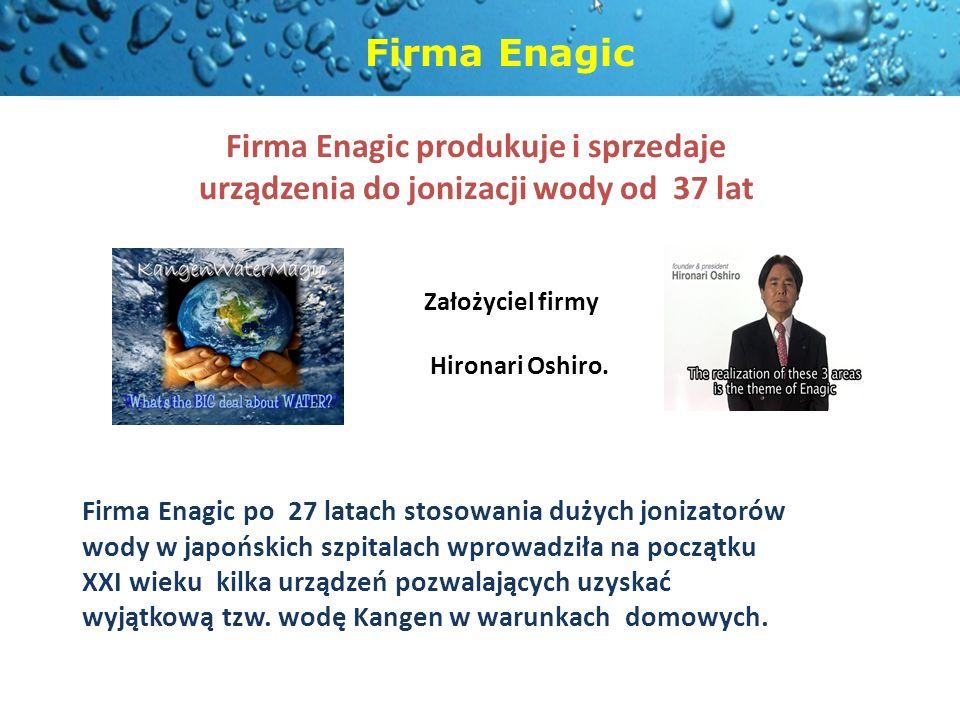 Firma Enagic produkuje i sprzedaje