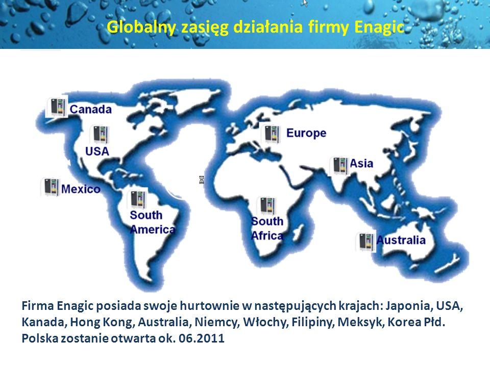 Globalny zasięg działania firmy Enagic