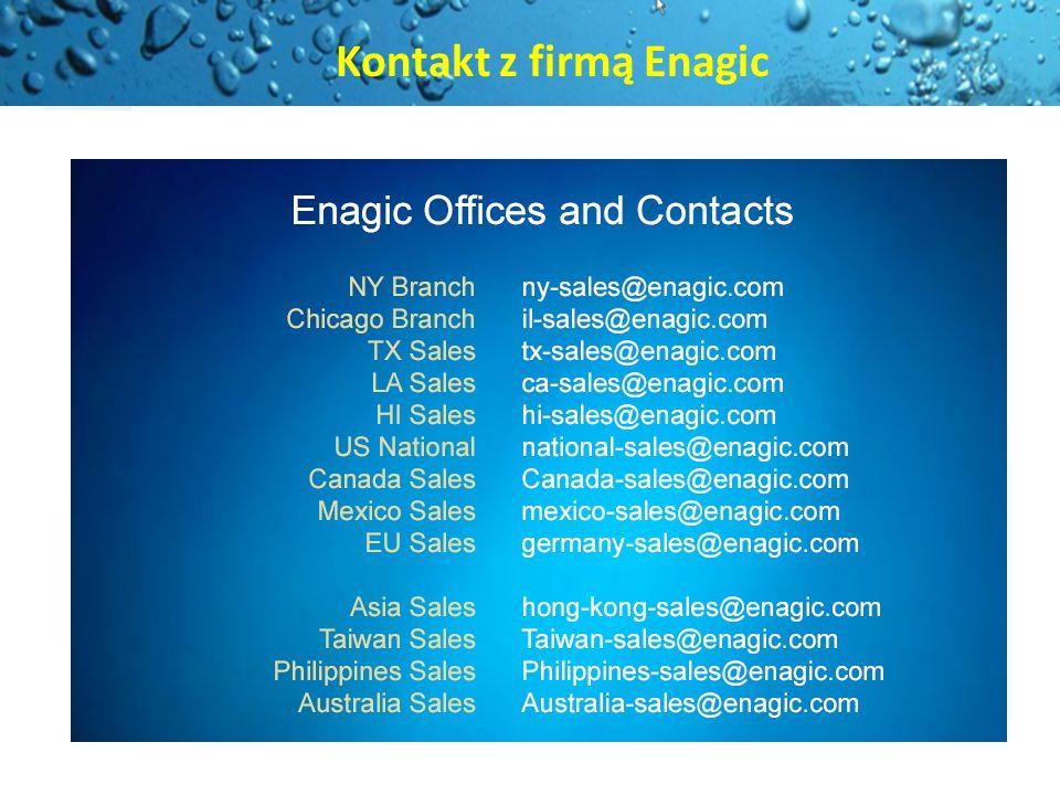 Kontakt z firmą Enagic