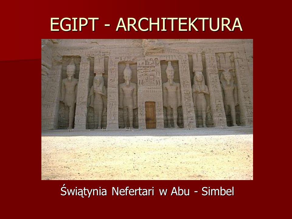 Świątynia Nefertari w Abu - Simbel