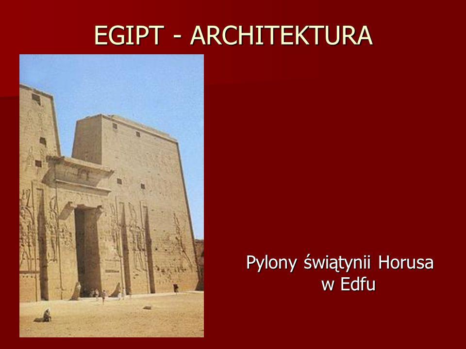 Pylony świątynii Horusa w Edfu