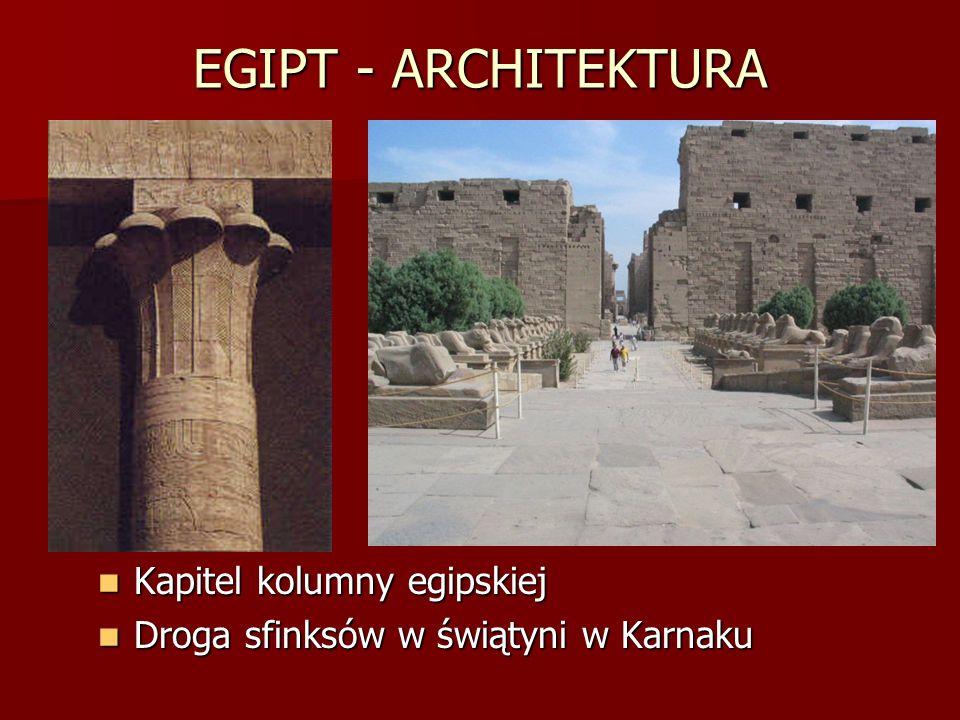 EGIPT - ARCHITEKTURA Kapitel kolumny egipskiej