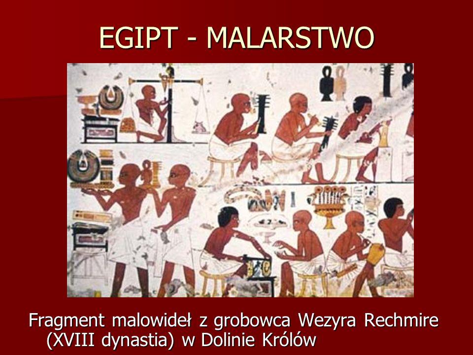 EGIPT - MALARSTWO Fragment malowideł z grobowca Wezyra Rechmire (XVIII dynastia) w Dolinie Królów