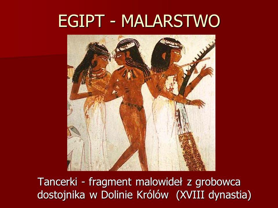 EGIPT - MALARSTWO Tancerki - fragment malowideł z grobowca dostojnika w Dolinie Królów (XVIII dynastia)