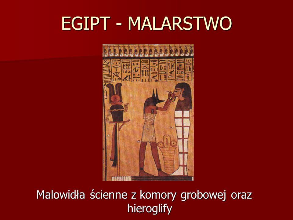 Malowidła ścienne z komory grobowej oraz hieroglify