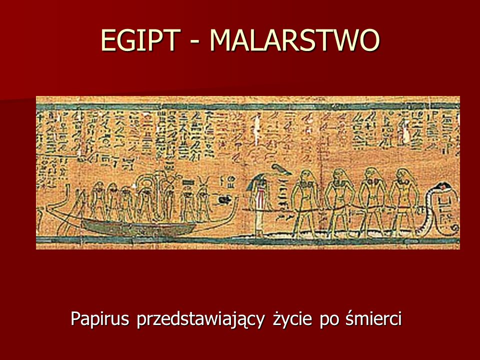 Papirus przedstawiający życie po śmierci