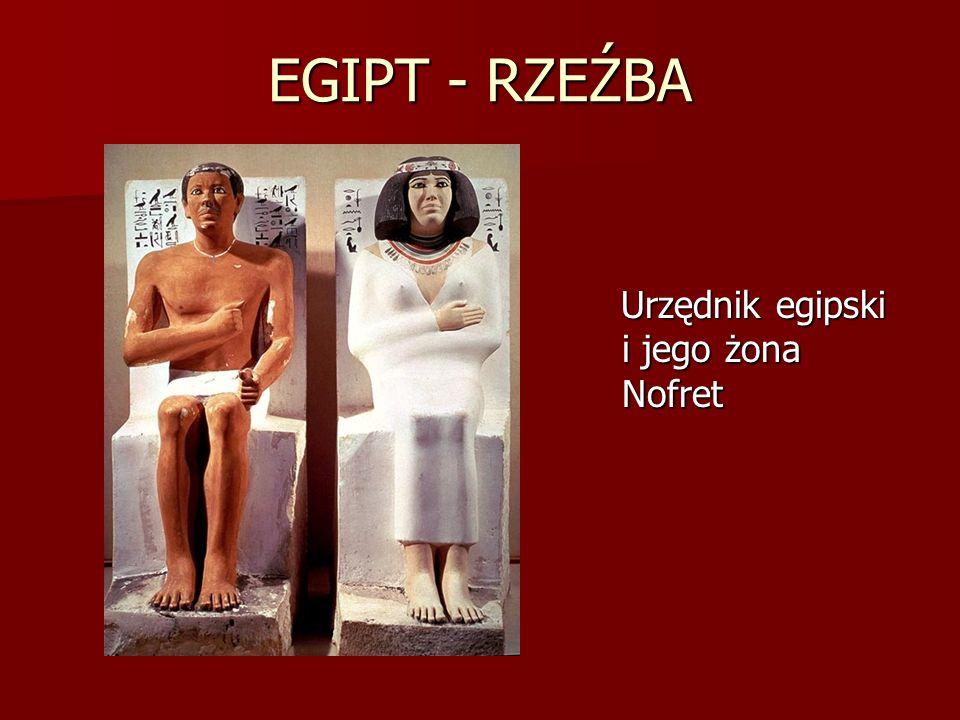 EGIPT - RZEŹBA Urzędnik egipski i jego żona Nofret