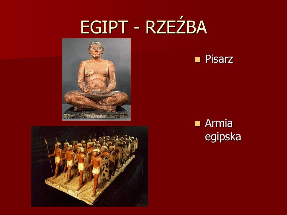 EGIPT - RZEŹBA Pisarz Armia egipska