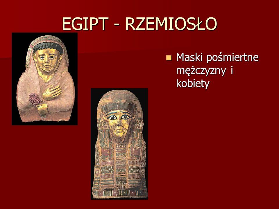 EGIPT - RZEMIOSŁO Maski pośmiertne mężczyzny i kobiety