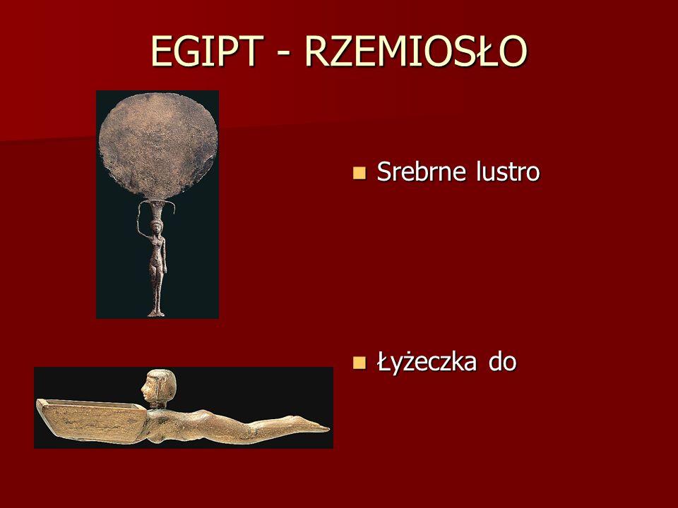 EGIPT - RZEMIOSŁO Srebrne lustro Łyżeczka do