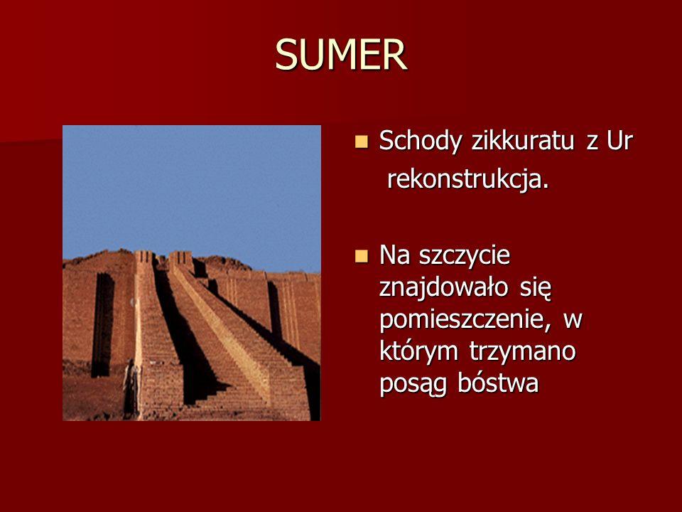 SUMER Schody zikkuratu z Ur rekonstrukcja.