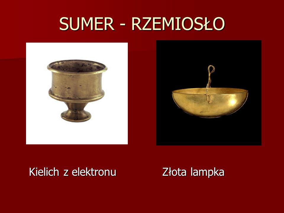 SUMER - RZEMIOSŁO Kielich z elektronu Złota lampka