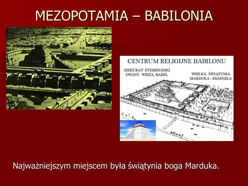 MEZOPOTAMIA – BABILONIA